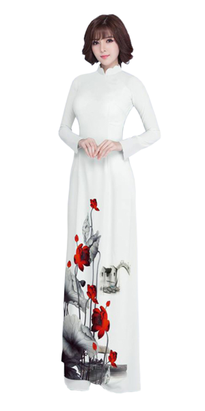 Luxury White Ao Dai