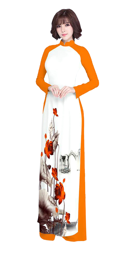 Luxury Orange Ao Dai