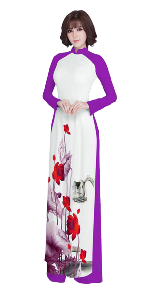 Luxury Purple Ao Dai