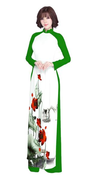 Luxury Green Ao Dai