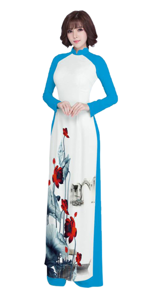 Luxury Blue Ao Dai