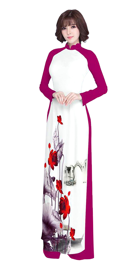 Luxury Red Ao Dai
