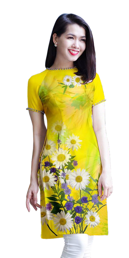 Modern Yellow Ao Dai