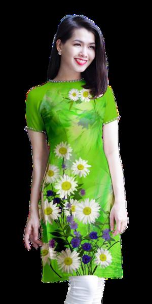 Modern Green Ao Dai
