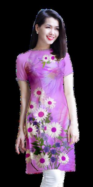 Modern Lavender Ao Dai