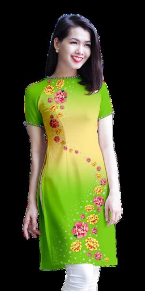 Modern Olive Ao Dai