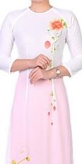 Rosy Peach Ao Dai