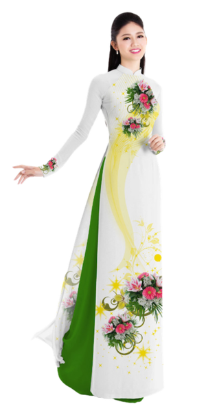 Winter White Ao Dai