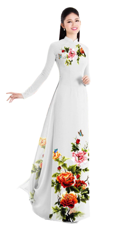 Winter Snow Ao Dai