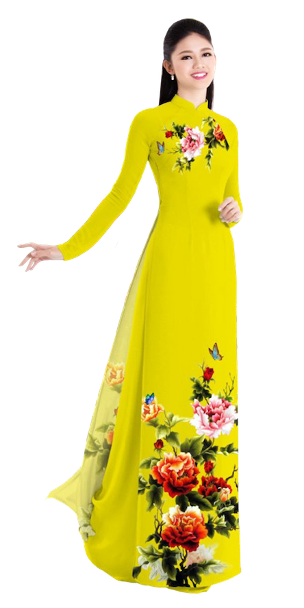 Winter Yellow Ao Dai