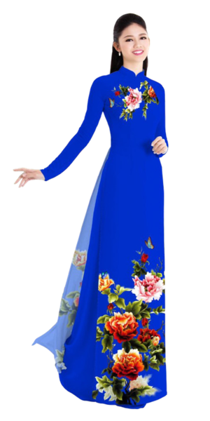 Winter Blue Ao Dai