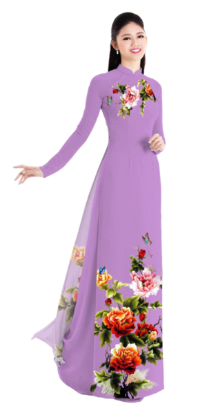 Winter Lilac Ao Dai