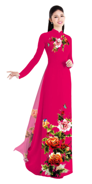 Winter Crimson Ao Dai