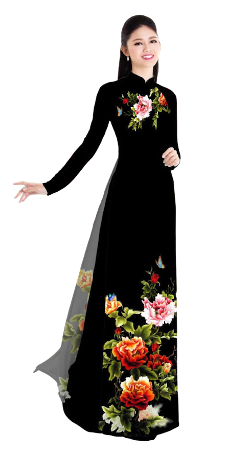Winter Black Ao Dai