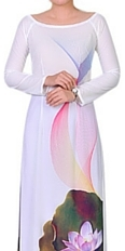 Winter Smalt Ao Dai