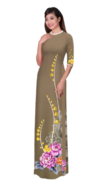 Winter Brown Ao Dai