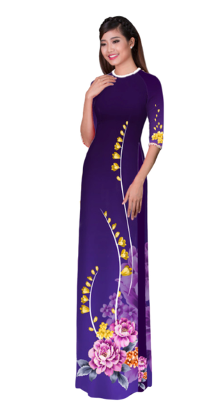 Winter Indigo Ao Dai