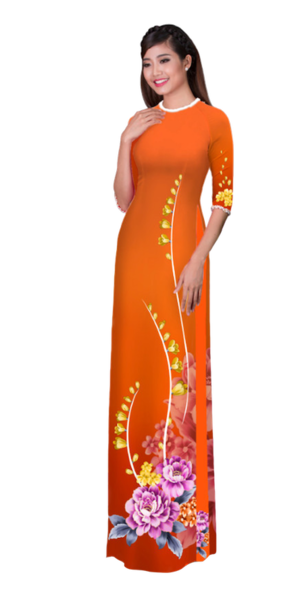 Winter Orange Ao Dai