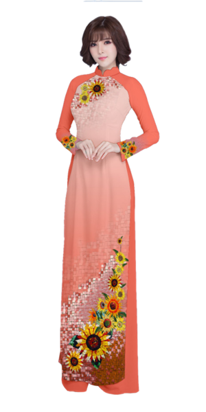 Evening Salmon Ao Dai