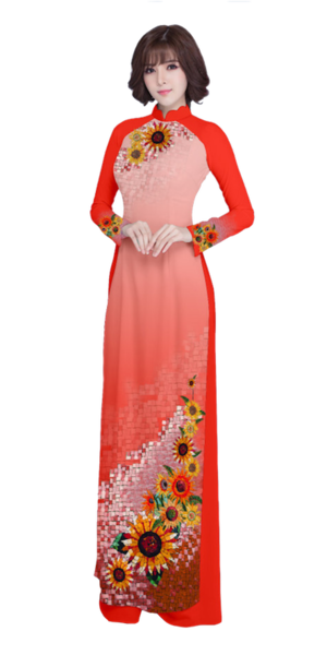 Evening Red Ao Dai