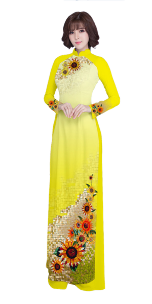 Evening Yellow Ao Dai