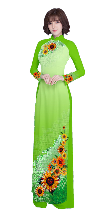 Evening Green Ao Dai