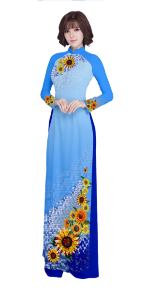Evening Blue Ao Dai