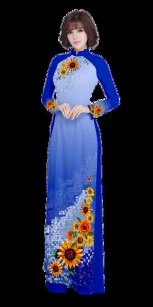 Evening Sapphire Ao Dai