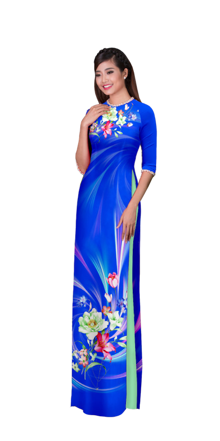 Evening Cobalt Ao Dai