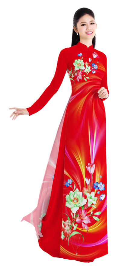 Evening Lava Ao Dai