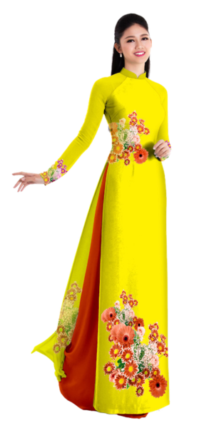 Fall Yellow Ao Dai