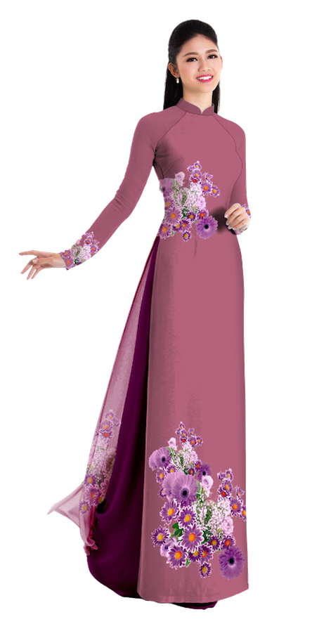 Fall Brown Ao Dai