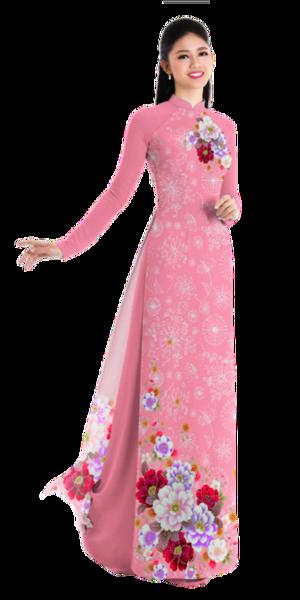 Fall Pink Ao Dai