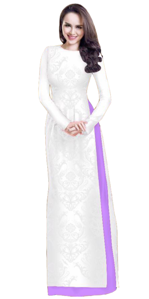 Mint Cream Ao Dai