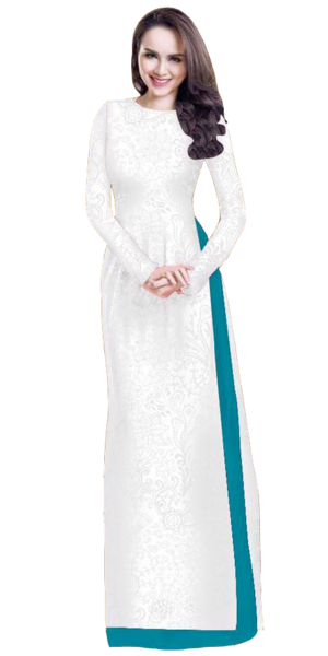 Ghost White Ao Dai