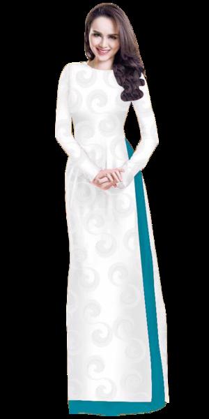 Floral White Ao Dai