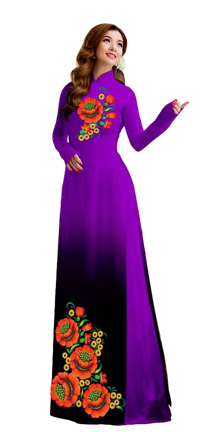 Mystery Purple Ao Dai
