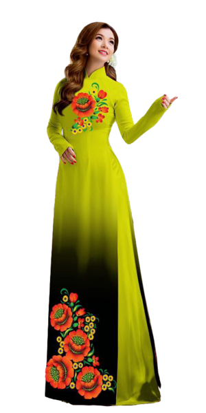 Mystery Yellow Ao Dai