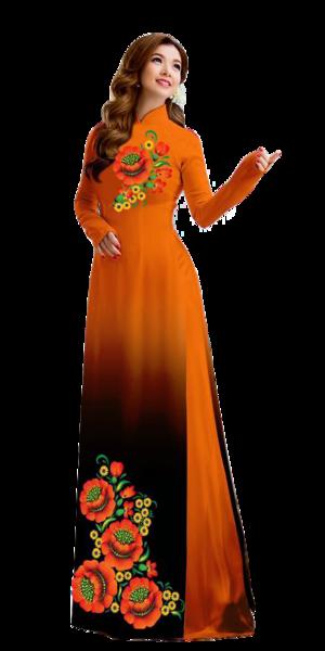 Mystery Orange Ao Dai