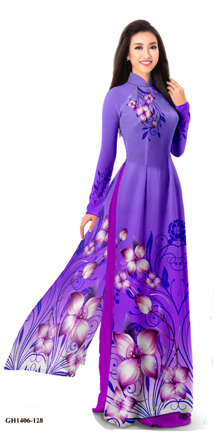 Midnight Lavender Ao Dai