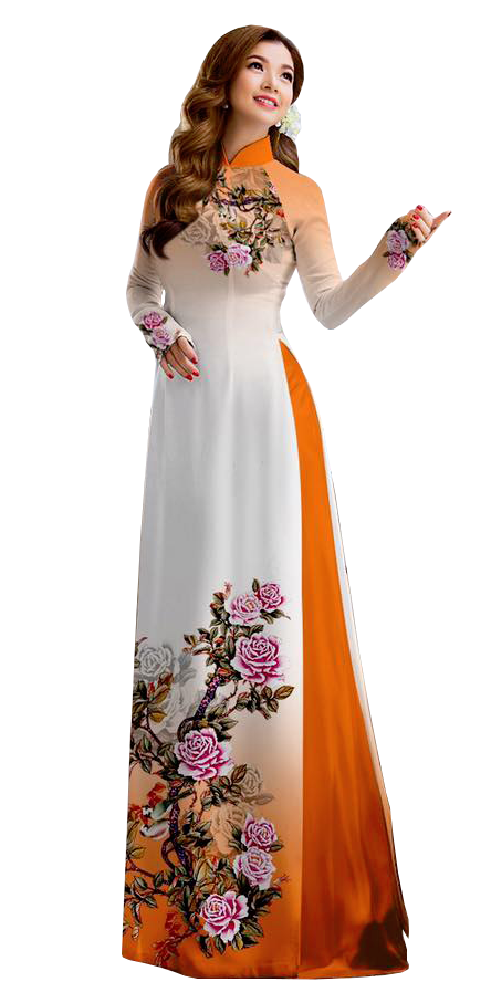 Royal Orange Ao Dai