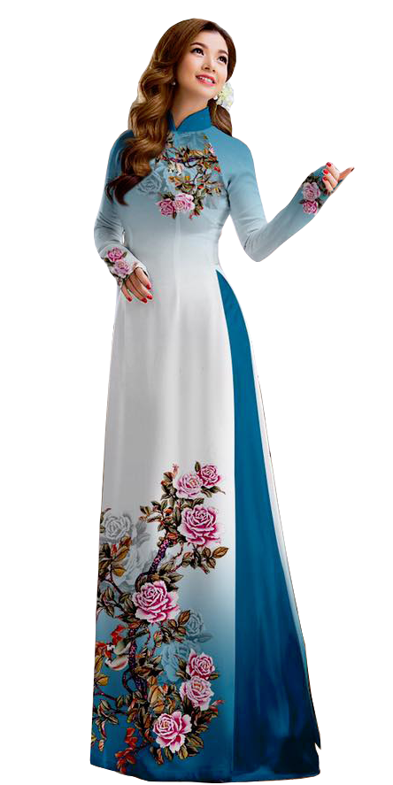 Royal Blue Ao Dai
