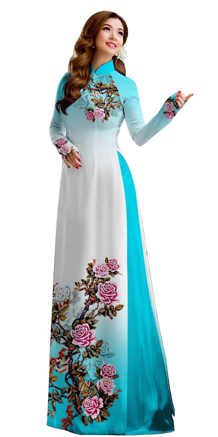 Royal Teal Ao Dai