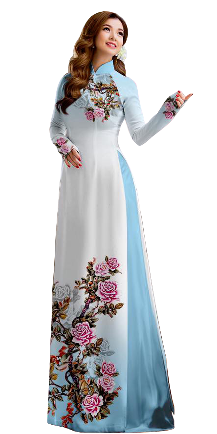 Royal Cornflower Ao Dai