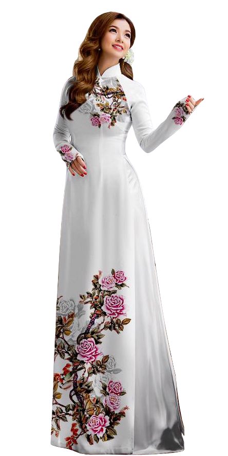 Royal White Ao Dai