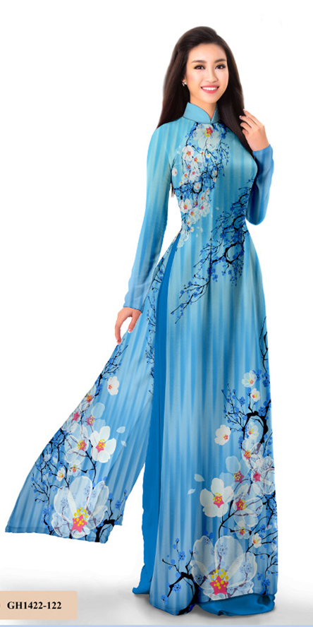 Steel Blue Ao Dai