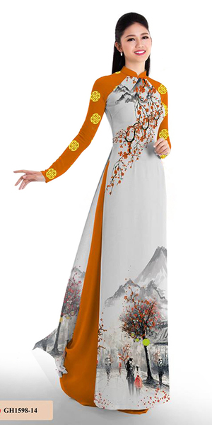 Autumn Orange Ao Dai