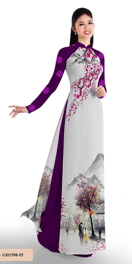 Autumn Purple Ao Dai
