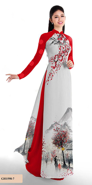 Autumn Red Ao Dai