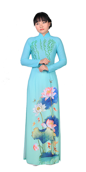 Water Blue Ao Dai